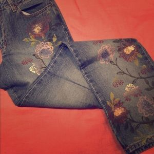 You & Me painted jeans, Nordstrom, Sz 2
